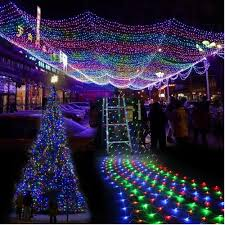 led net lights multi color image multi color 300 led net mesh rgb linkable fairy string light