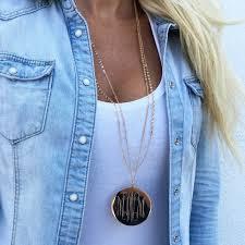 Monogram Pendant Necklace With Initials Monogram Avalon Pendant Necklace U2013 I Love Jewelry