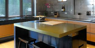 countertop for kitchen island kitchen concrete countertop gallery cheng concrete exchange