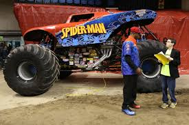 monster energy monster jam truck interview with spider man monster truck kid