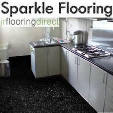 black sparkly kitchen flooring glitter effect vinyl floor