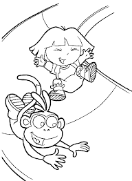 dora coloring pages getcoloringpages