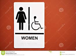 ladies room sign on the wall royalty free stock image image 6626936