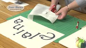 sewing letter templates sew easy lesson how to make fusible applique lettering youtube