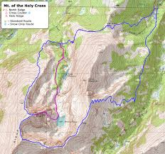 Bent Creek Trail Map 14ers Com U2022 Mt Of The Holy Cross Route Description North Ridge