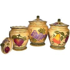 tuscan kitchen canisters sets tuscan collection deluxe handcrafted 3 piece kitchen canister set