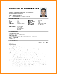 resume writing format pdf resume sle of malaysia new resume sle pdf malaysia cv for
