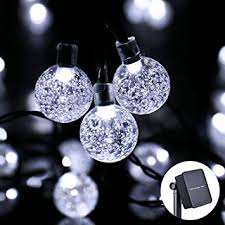 Solar Led Patio String Lights Icicle Solar Christmas String Lights 20ft 30 Led Solar Powered