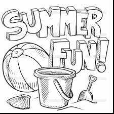 impressive summer coloring pages with summer fun coloring pages