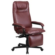 high back leather executive reclining office chair free shipping