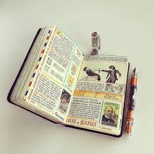 travelers notebook images Artist fills traveler 39 s notebook with intimate visual diary jpg