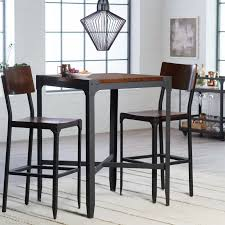 Pub Dining Room Set by Carolina Morgan Stainless Steel Top Bar Table Black Hayneedle