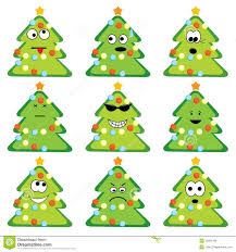 cartoon christmas trees set royalty free stock photos image