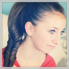 fluffy fishtail braid hairstyles for long hair cute girls