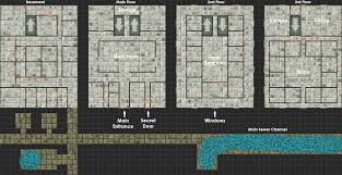 3 story buildings basement and sewers dndmaps