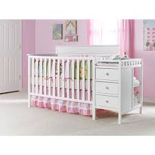 Graco Crib With Changing Table Graco Lauren 4 In 1 Crib U0026 Changer Combo White Walmart Com