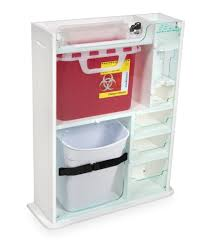 wall mounted sharps containers 52950 element healthcare cart phlebotomy module 20 x 24 x 6
