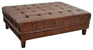 Leather Ottoman Coffee Table Rectangle Simple Leather Ottoman Coffee Table Rectangle Also Fresh Home