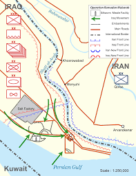 Map Of Al Second Battle Of Al Faw Wikipedia