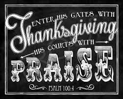thanksgiving scripture chalkboard psalm 100 4