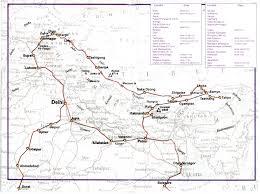 Himilayas Map Ippolito Desideri