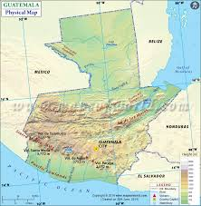 geographical map of guatemala map of guatemala