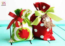 gift bags christmas drawstring fabric gift bag tutorial