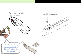 Banister Rail Fixings How To Fit A Handrail Using Twist Brackets