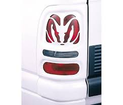 2001 dodge dakota tail light covers dodge dakota v tech taillight covers big horns style 27373