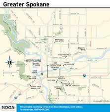Spokane Washington Map Printable Travel Maps Of Washington State Moon Travel Guides