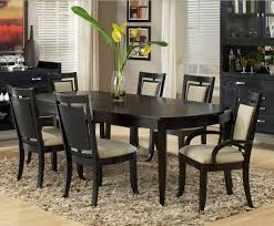 enchanting black country dining table with black dining room set