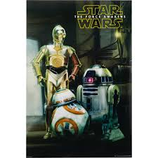 wall art home big impact posters star wars vii droids poster