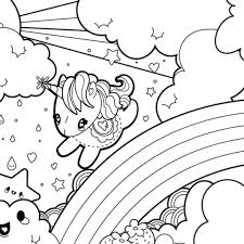 Cartoon Unicorn Coloring Pages Cute 544447 Unicorn Coloring