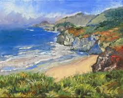 Impressionist Landscape Painting by Landscapes Dominique Amendola Figures Painting And Spiritual