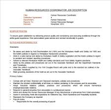 Sample Human Resources Assistant Resume by Hr Coordinator Job Description Sample Senior Hr Coordinator Job