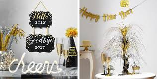 black and gold centerpieces black gold silver new year s decorations party city