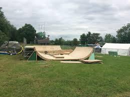 greenpeace skate park taking shape at glastonbury festival