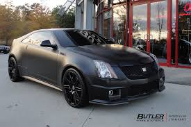 matte black cadillac cts v coupe with 20in xo milan wheels a