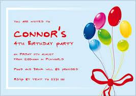 text birthday invitation sample invitations for birthday party