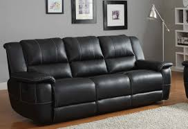 Black Leather Reclining Sofa And Loveseat Cantrell Sofa Recliner Black Bonded Leather For Black