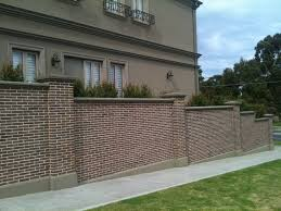 fence wall designs home decor pleasing brick wall fence designs