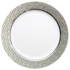 clear plastic plates hammered collection 9 plates white clear 10 count