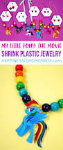 my little pony the movie shrink plastic jewelry happiness is