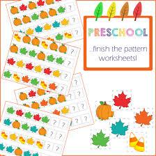 preschool activities finish the pattern one beautiful home