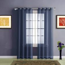 Navy Blue Sheer Curtains Warm Home Designs Navy Blue Sheer Curtains Window Scarf Valances