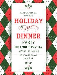 argyle christmas dinner invitation template stock vector art