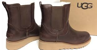 womens leather boots australia ugg australia slim britt chestnut leather wedge womens ankle
