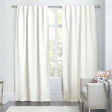 Ivory Linen Curtains Ivory Cotton Blackout Curtains Linen Curtain West Elm Within Sweet