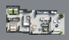 Medcottage Floor Plan Modern 2 And 3 Bedroom Apartments Near The Beach In Javea