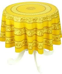 nappe ronde tissu enduit ronde antitache dessin placé provençal